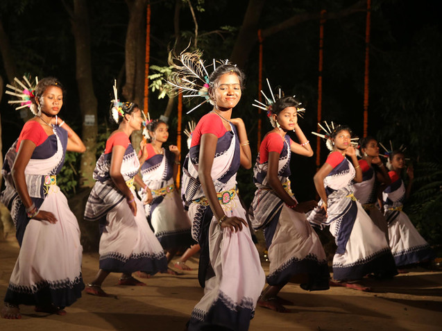 Tribal dance performance at JDCA site for the 12th Film Festival