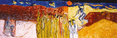 Egg Tempera Fresco, 1965, Birla Kreeda K