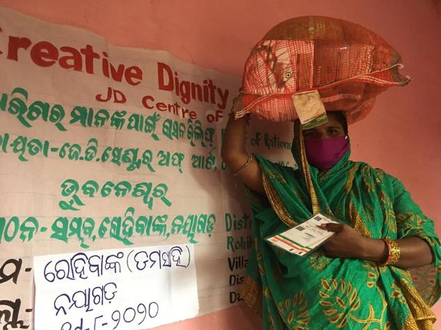 37 families, bamboo utility, Rohibanka, Nrusingha Prasad village, District Nayagarh, distributed by Sambhav