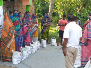 50 families, coir toys and golden grass, Balibasta and Ohala village, District Puri, distributed by Adventure