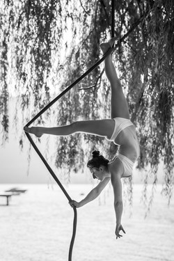 Ankle hang bow pose