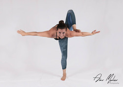 Standing dragonfly pose