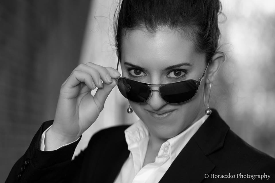 Business headshot with sunglasses