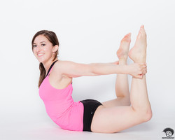 Back bend bow pose