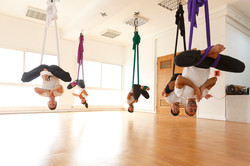 Inverted butterfly pose