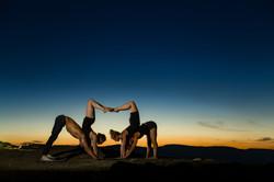 Acro yoga scorpions