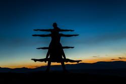 Acro yoga straddles