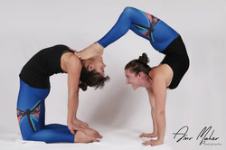 Camel and handstand scorpion