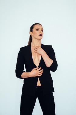 Gothic body shot with blazer