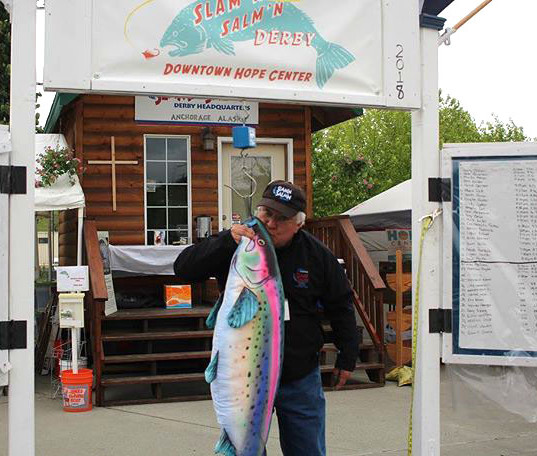 Big King Salmon pulled from Ship Creek