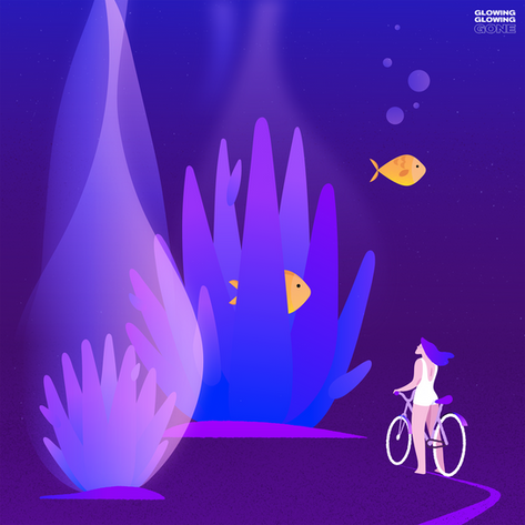 Glowing Corals. Illustration to Support Coral Reef Conservation.