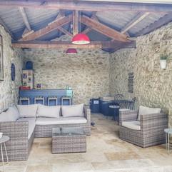 Lounge aan het zwembad