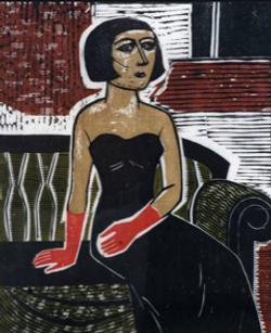 Dama com Luvas