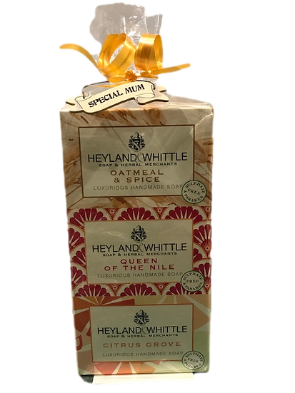 Heyland & Whittle Gift wrapped trio of soaps