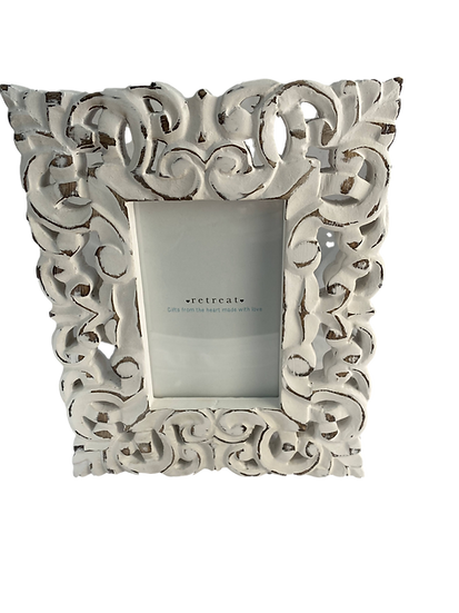 Distressed Cream Ornate Photo Frames