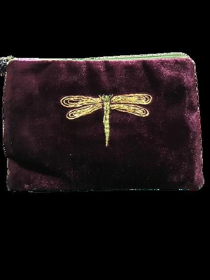 Velvet Make Up Bag - Dragonfly