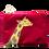 Thumbnail: Small Velvet Makeup Bags - Giraffe