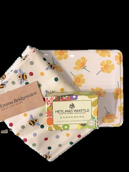 Emma Bridgewater Tin, Tea Towel, Soap