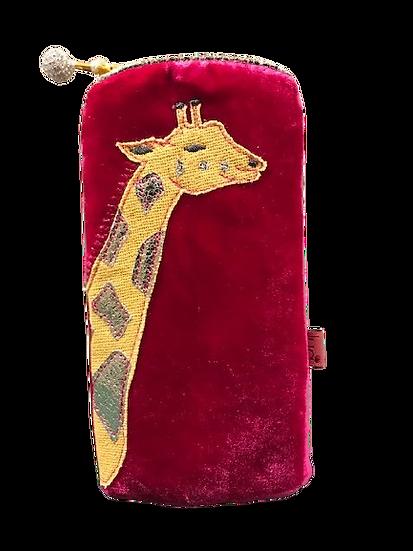 Velvet Glasses Case -Giraffe