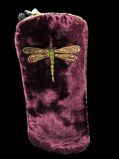 Velvet Glasses Case Dragonfly Design