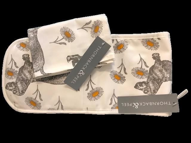 Thorneback & Peel Tea towel & Oven Gloves