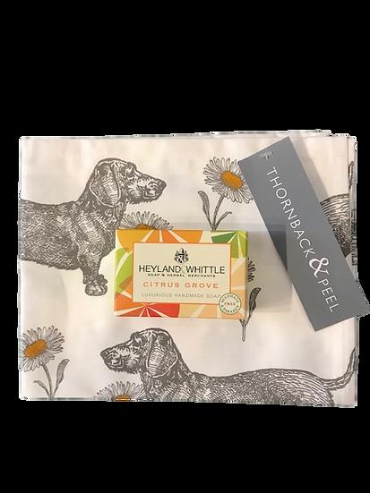 Thornback & Peel Tea towel & Soap Bundle