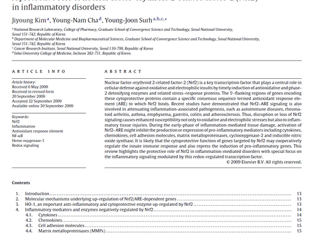 BRIC 한국을 빛내는 사람들: A protective role of Nrf2 in inflammatory disorders