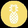 Pineapple Icon - Yellow