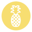 Pineapple Icon - Yellow