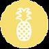 Icône d'ananas - Jaune