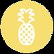 Ananas-Symbol - Gelb