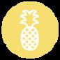 パイナップルのアイコン - イエロー