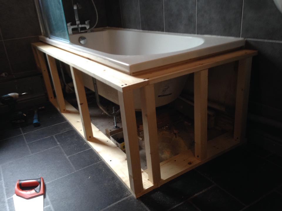 Bathroom Installation Before