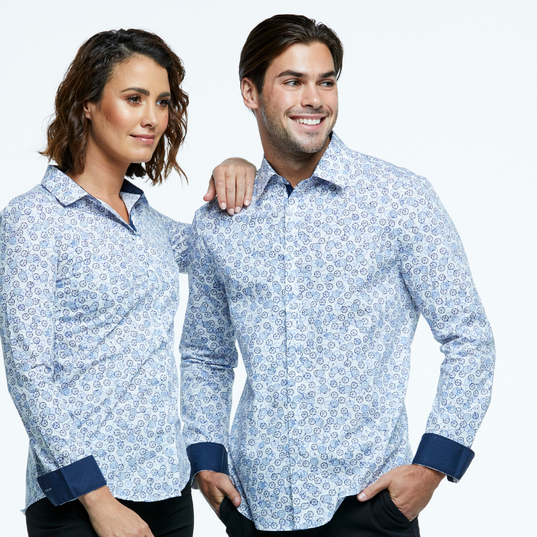 Shirt and Blouse combination in Digital Print fabric.