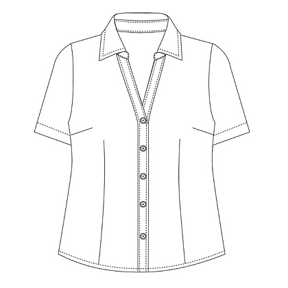 6301S: Semi fit blouse