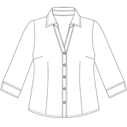 6301Q: Semi fit blouse