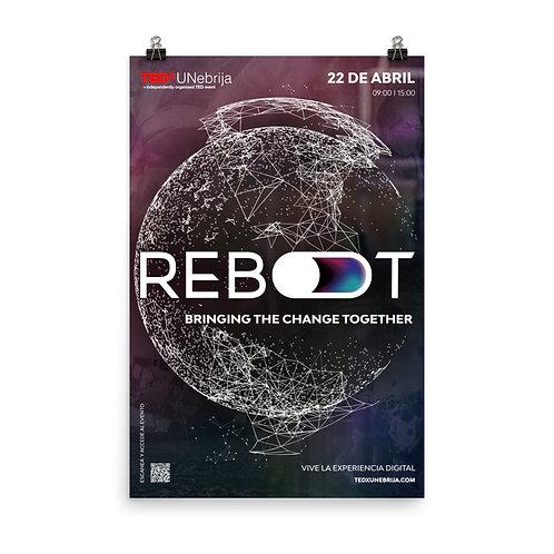 Offcial Poster - TEDxUNebrija Reboot