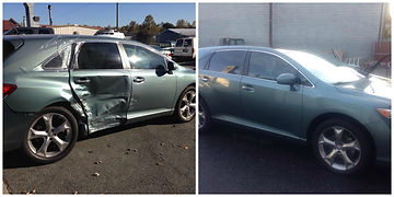 Before and After Toyota Repair