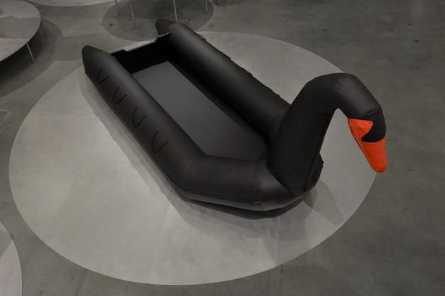 Black swan lifboat, Design Museum Holon