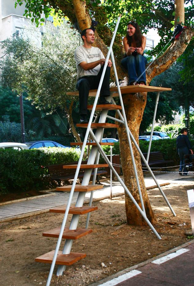 Urban Tree Bench, Ben Gurion Boulevards ,Tel Aviv