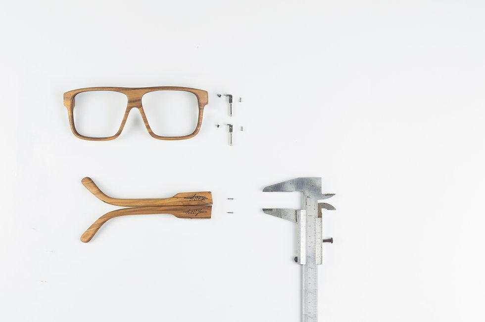 Lesena očala fjprodukt so izdelana popolnoma ročno