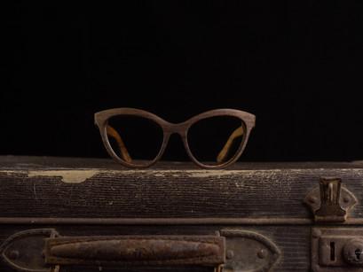 Lesena očala Vintage Retro. Ženska unikatna lesena očala FJ-PRODUKT