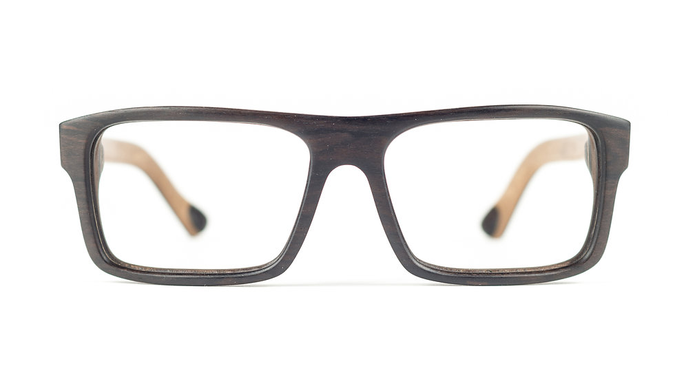 Lesena očala Business 3D Wenge - Lesena očala FJ PRODUKT front