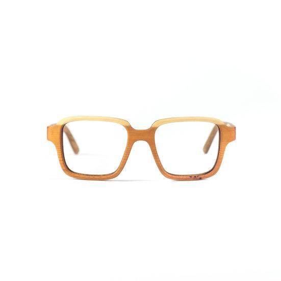 Lesena očala FJ-PRODUKT Retro Squared Front