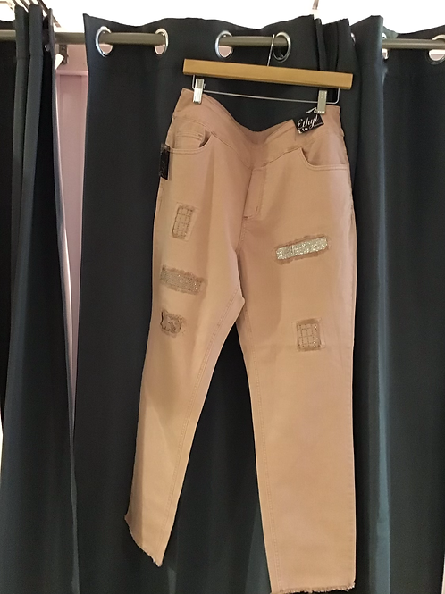 Ethyl Patch ankle pants
