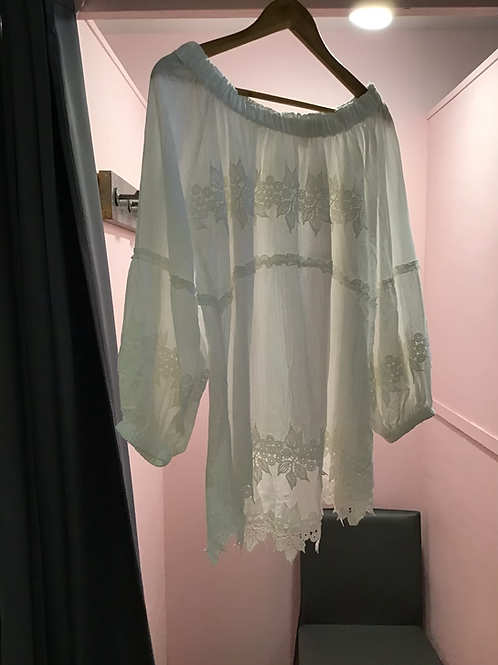 White off the shoulder lace top