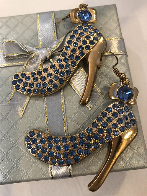 Hi heel rhinestone earrings SALE