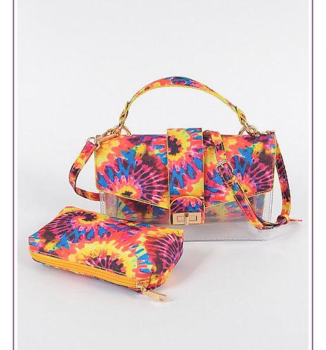 Tie Die Print Clear Bag #hpc 3152