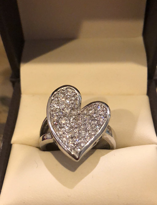 """""""Swag """"Heart CZ  size 9"""