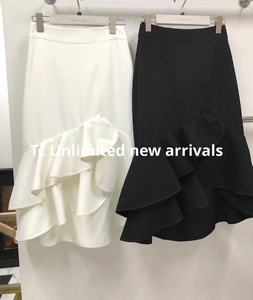 New ruffle  Gracia white skirt  white only